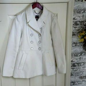 Womens Cream A/X Pea Coat